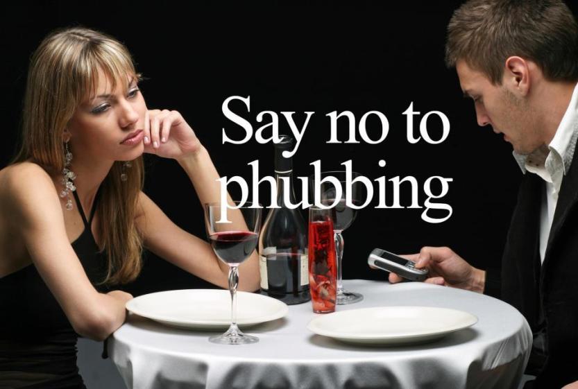 no to phubbing